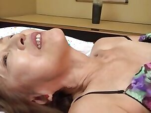 Of age Japanese Asano TAeko spreads her hands and drills her holes