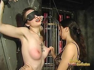 Foxy tattooed bimbo likes being spanked hard by her dominatrix